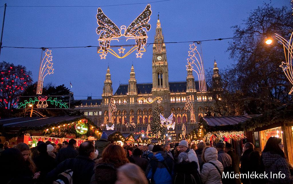Bécs advent városháza 2011