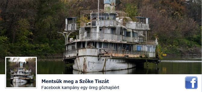 Facebook Kampány a Hajó megmentéséért.